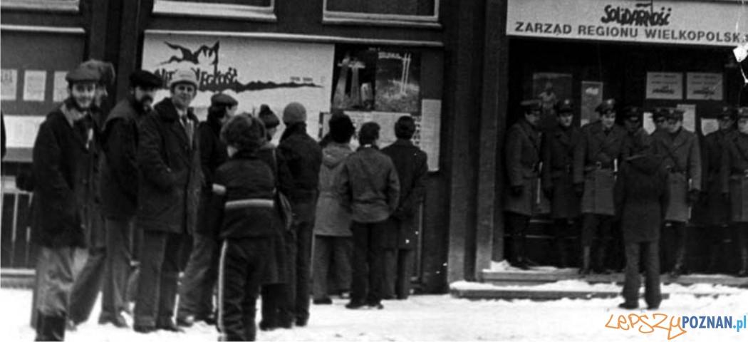Stan wojenny w Poznaniu  Foto: NSZZ Solidarność