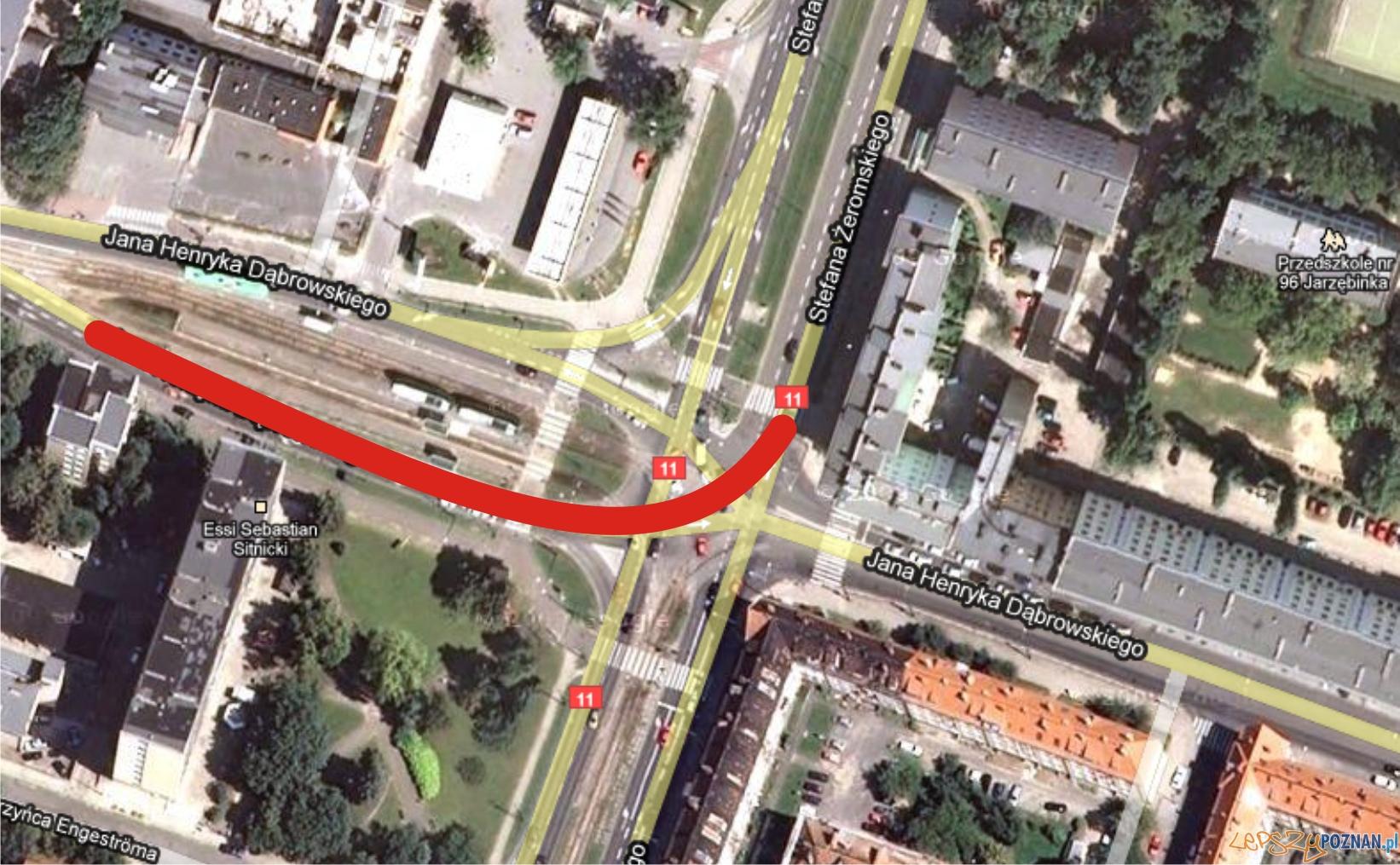 google maps - dąbrowskiego  Foto: