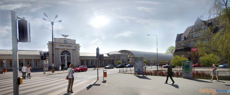 """Wizualizacja przystanku PST """"Dworzec zachodni""""  Foto: Biuro Projektów Komunikacyjnych w Poznaniu sp. z o.o"""