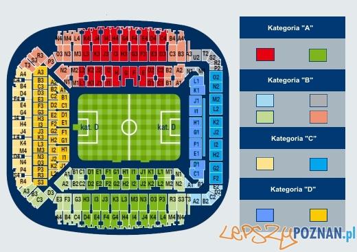 Mapa Stadionu Miejskiego  Foto: http://www.lechpoznan.pl