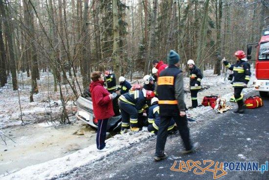 wypadek pod Krotoszynem  Foto: PSP / Tomasz Niciejewski