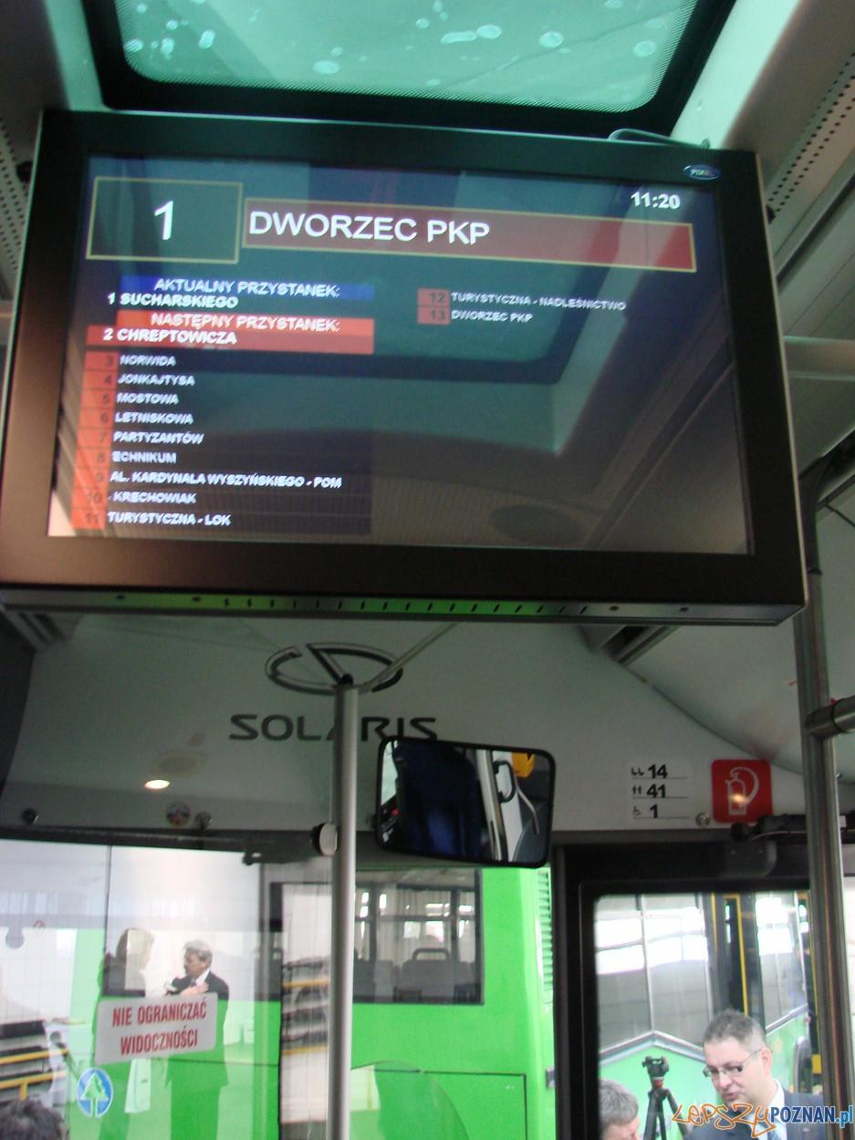 elektroniczne tablice informujące o trasie autobusu  Foto: lepszyPOZNAN.pl / ag