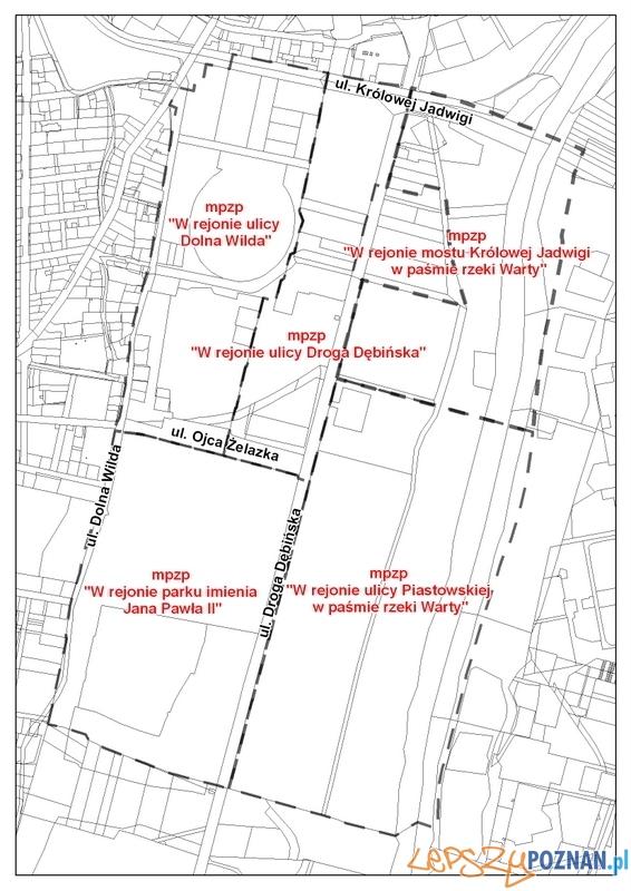 Granice konsultowanych terenów  Foto: Miejska Pracownia Urbanistyczna