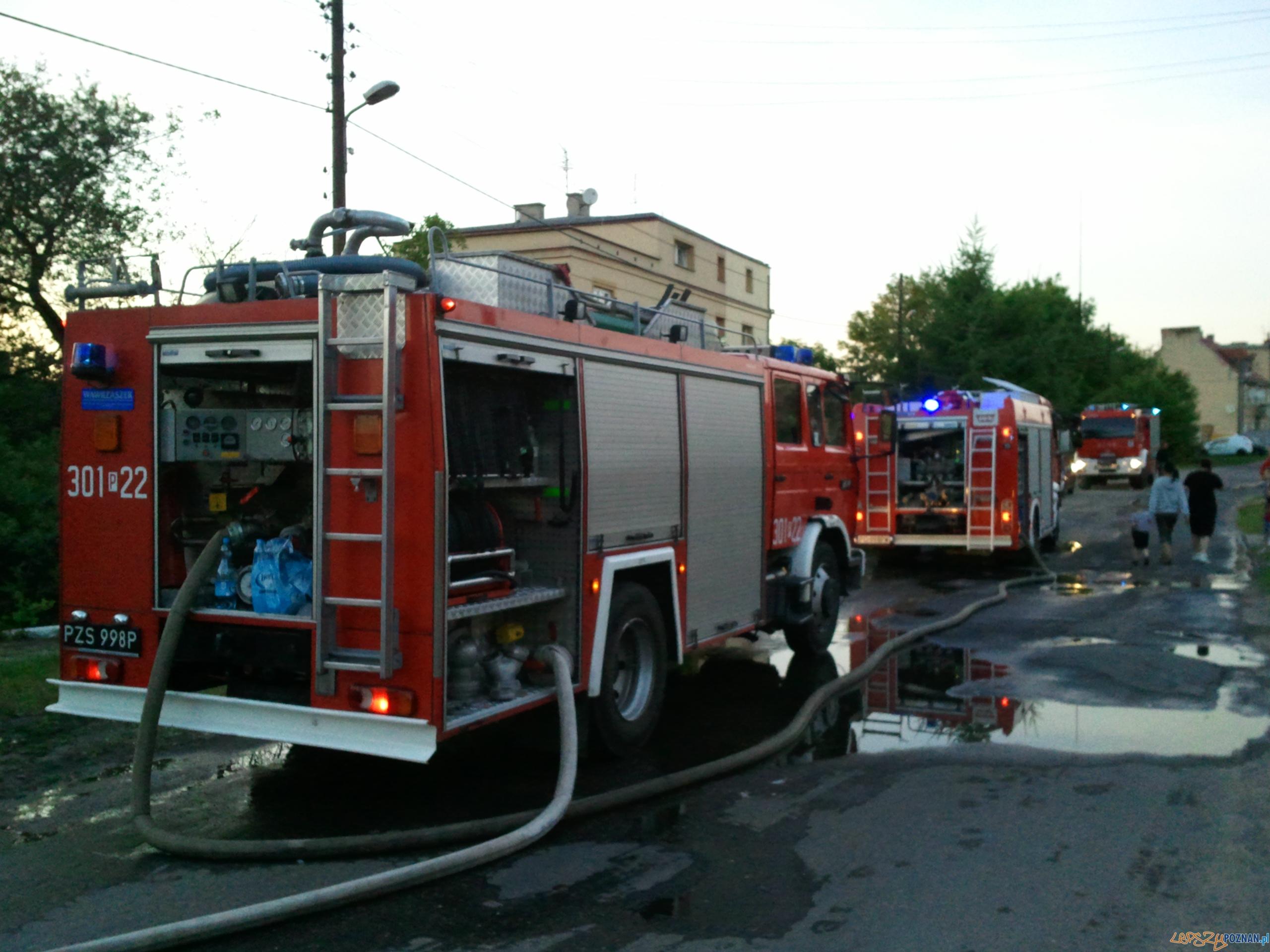 pożar na Studziennej  Foto: lepszyPOZNAN.pl / gsm