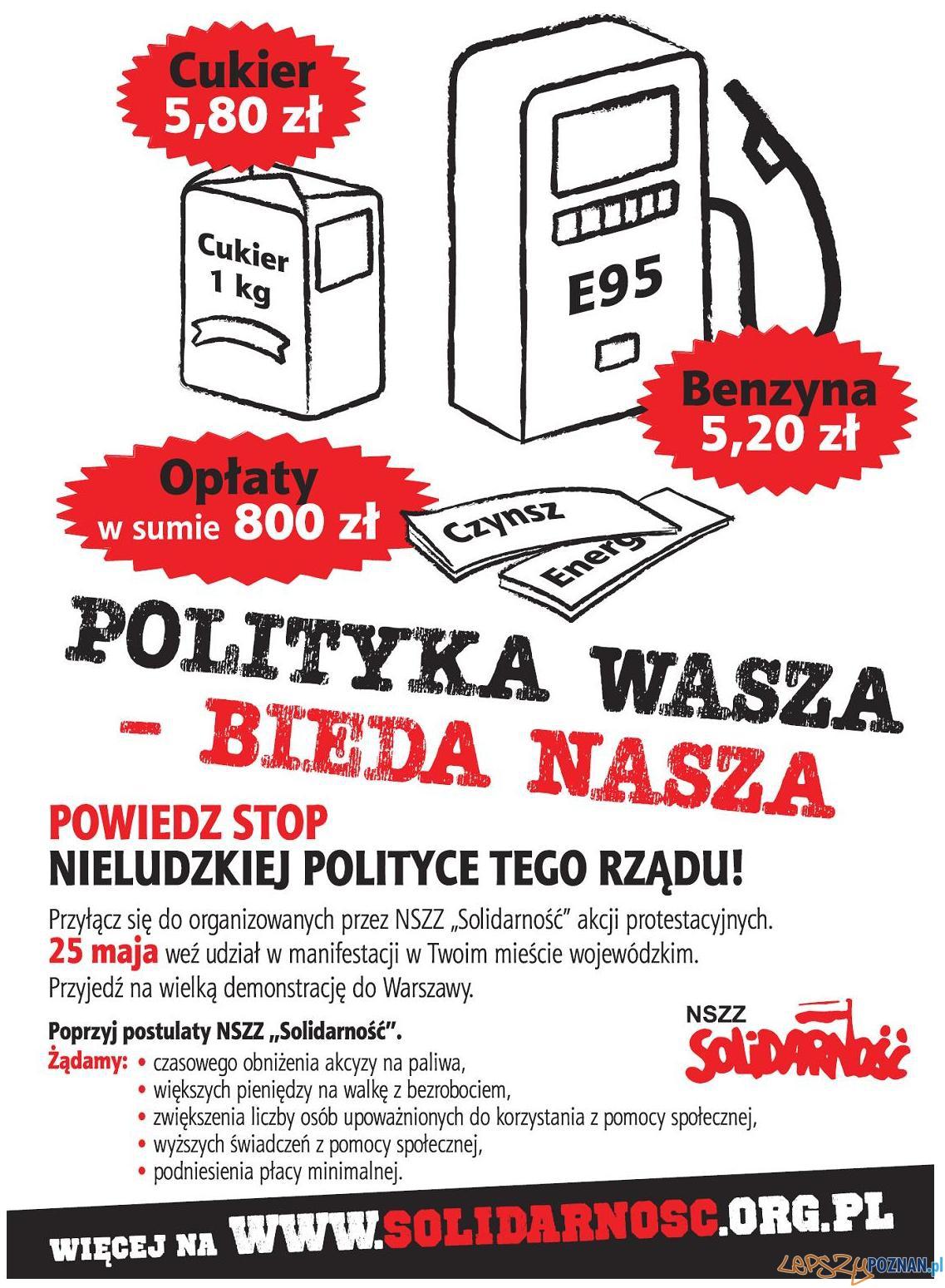 solidarnosc_plakat 25 05 2011  Foto: nszz solidarność