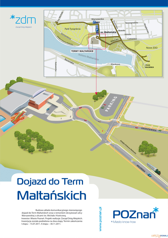 Budowa dojazdu do Term Maltańskich  Foto: ZDM