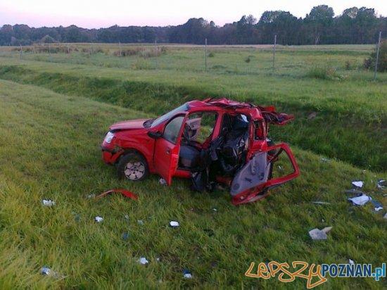Śmiertelny wypadek na autostradzie  Foto: OSP Dominowo