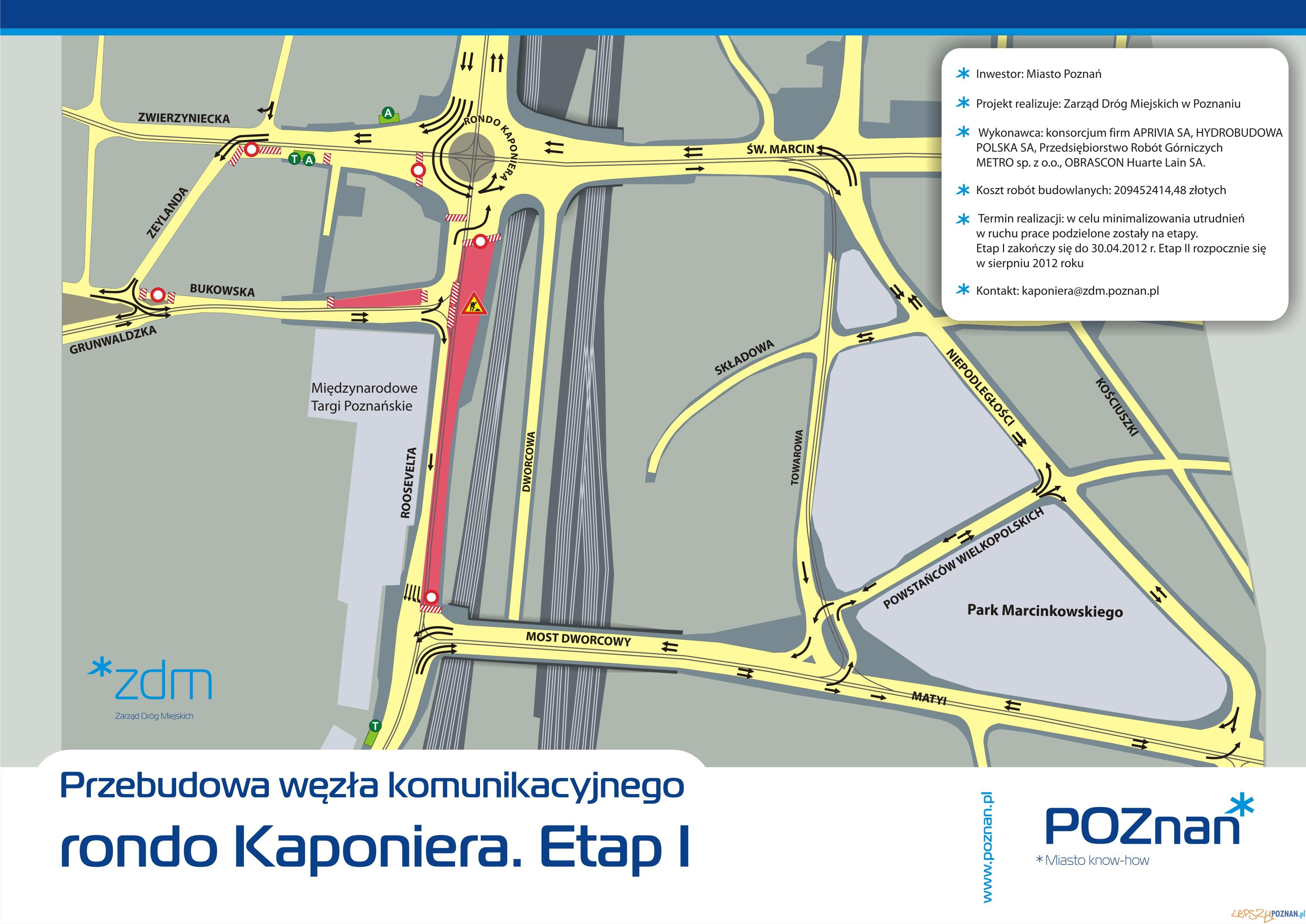 Plan zmian na rondzie Kaponiera  Foto: ZDM