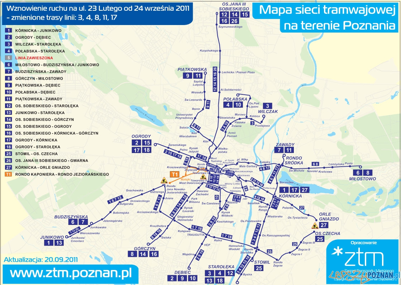Układ linii tramwajowych po otwarciu 23 lutego  Foto: ZTM