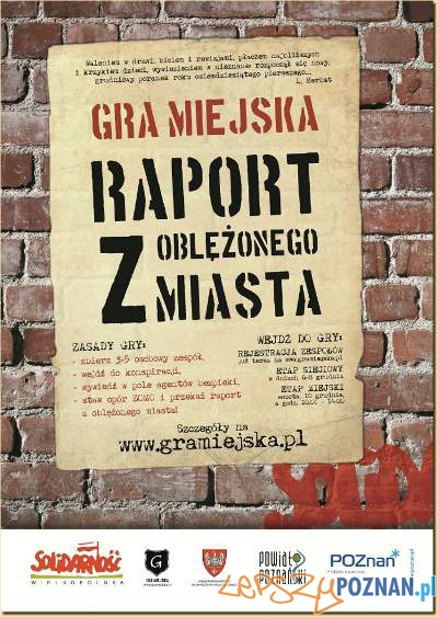 Plakat Gra miejska  Foto: