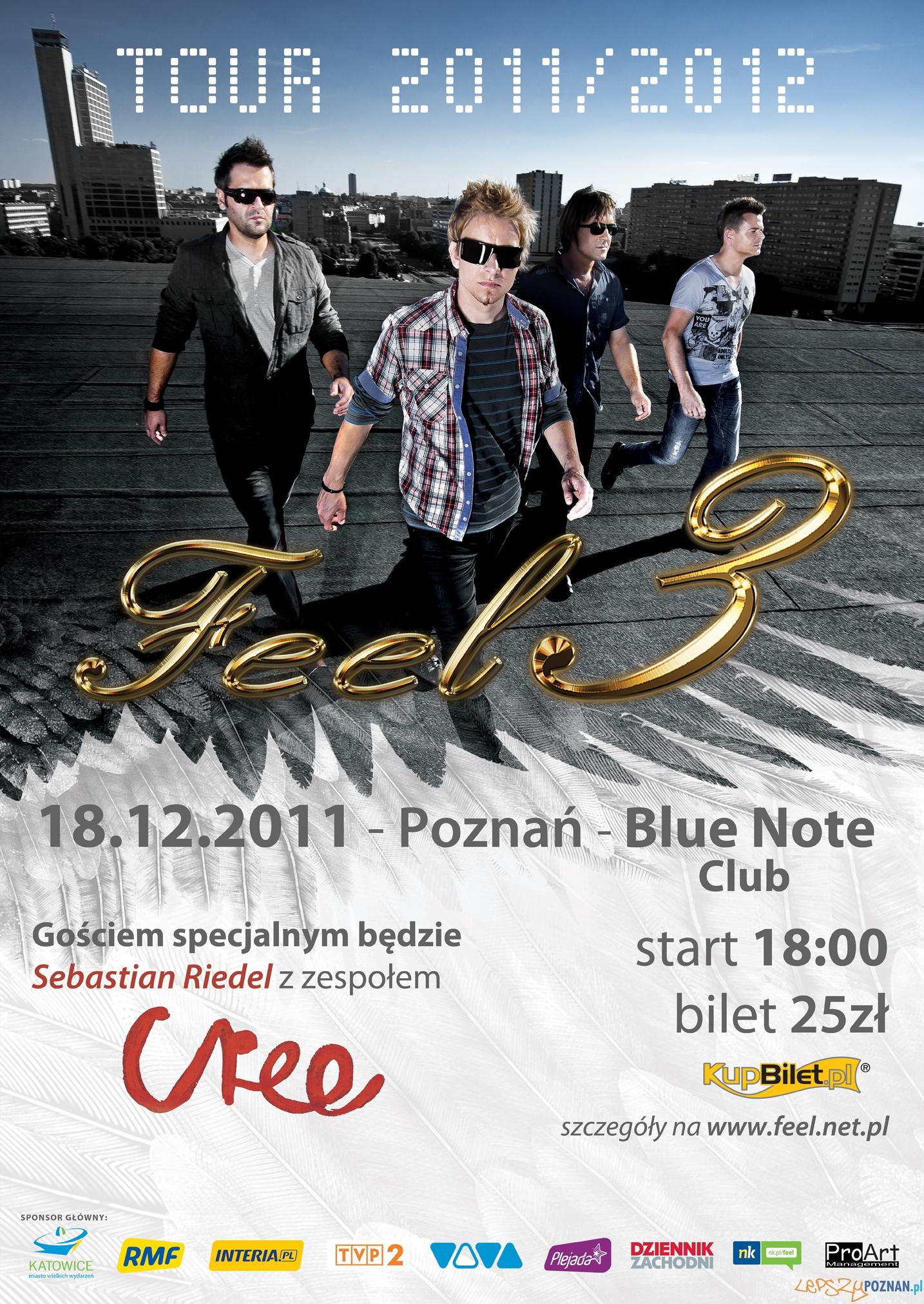 Plakat koncerty Feel i Cree w Poznaniu  Foto: