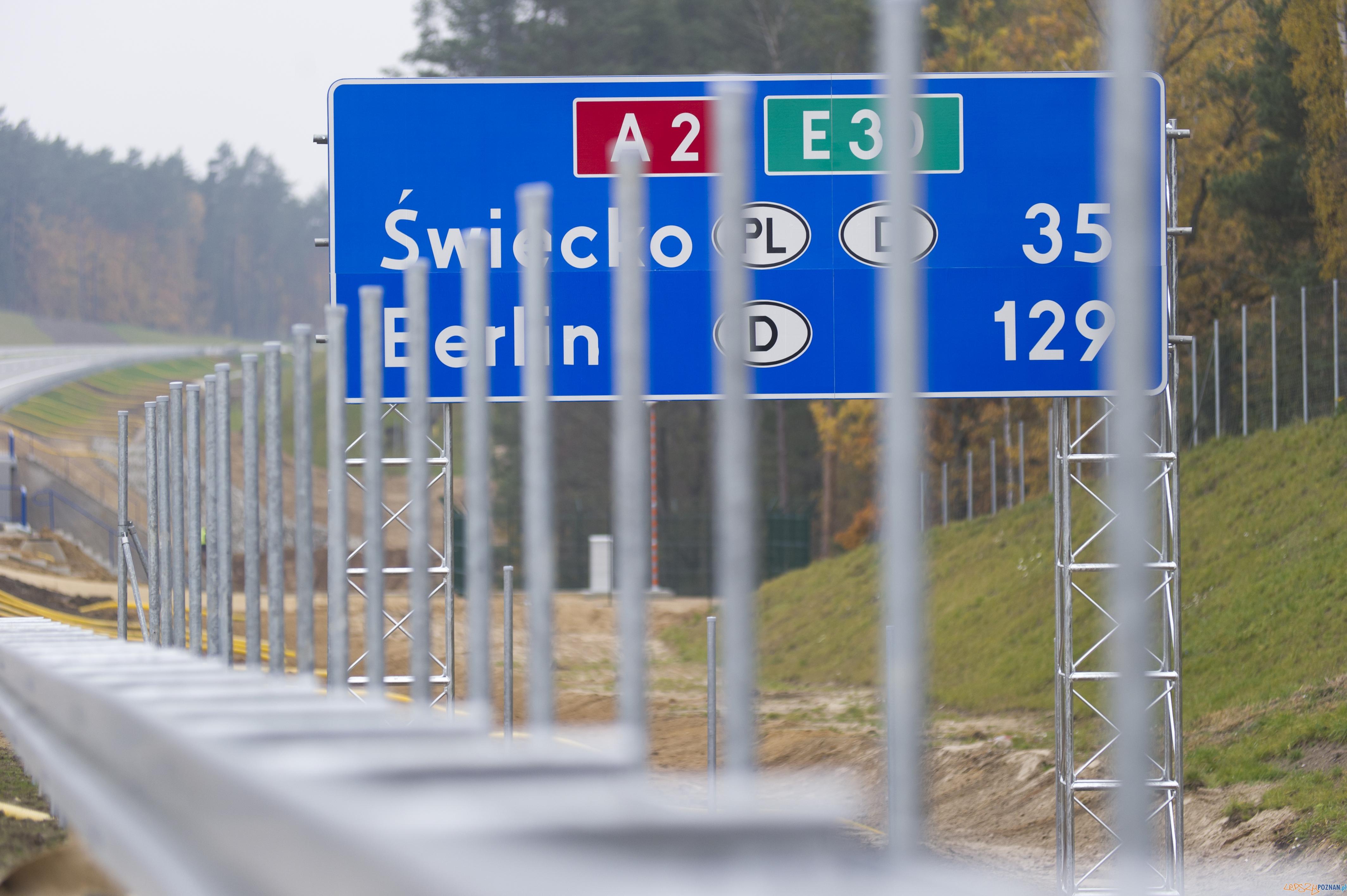 Element oznakowania autostrady  Foto: Autostrada Wielkopolska