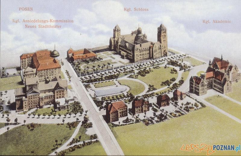 Dzielnica Cesarska na pocztówce z początków XX wieku  Foto: