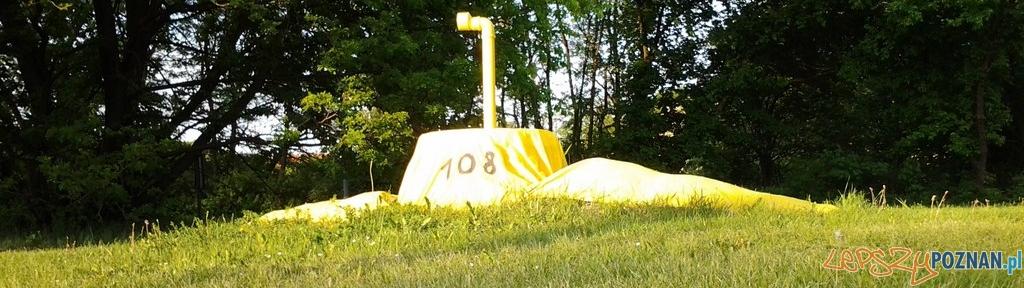 Żółta łódź podwodna na Winogradach  Foto: lepszyPOZNAN.pl / ag