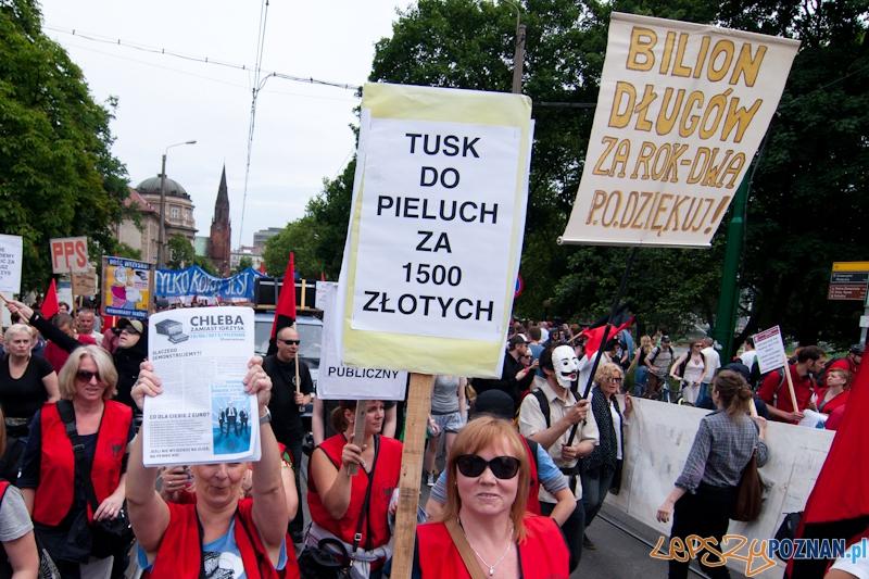 Demonstracja Chleba zamiast Igrzysk - Poznań 10.06.2012 r.  Foto: LepszyPOZNAN.pl / Paweł Rychter