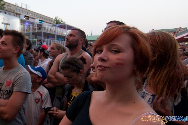 Strefa Kibica podczas finałowego meczu Euro 2012 Hiszpania - Włochy - Poznań 01.07.2012 r.  Foto: LepszyPOZNAN.pl / Paweł Rychter
