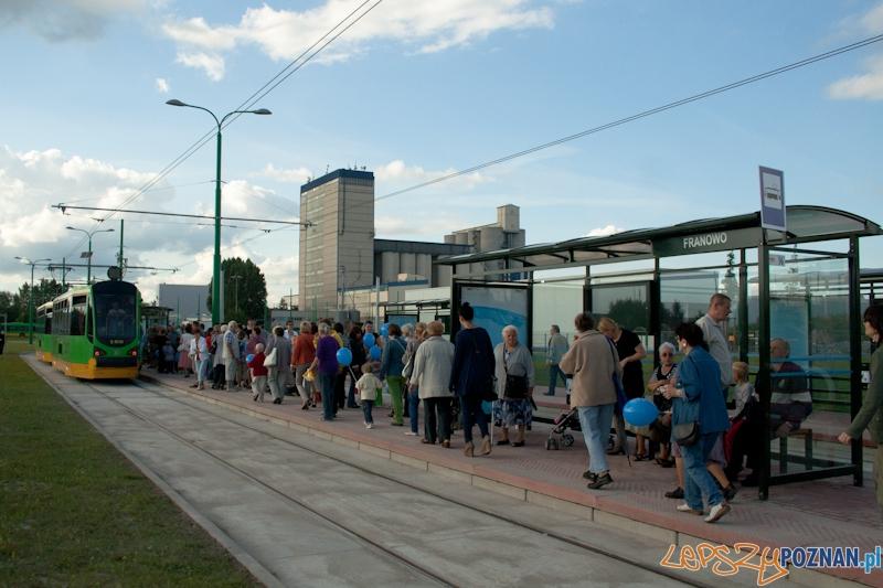 Otwarcie nowej trasy tramwajowej na Franowo 11.08.2012  Foto: Ewelina Gutowska