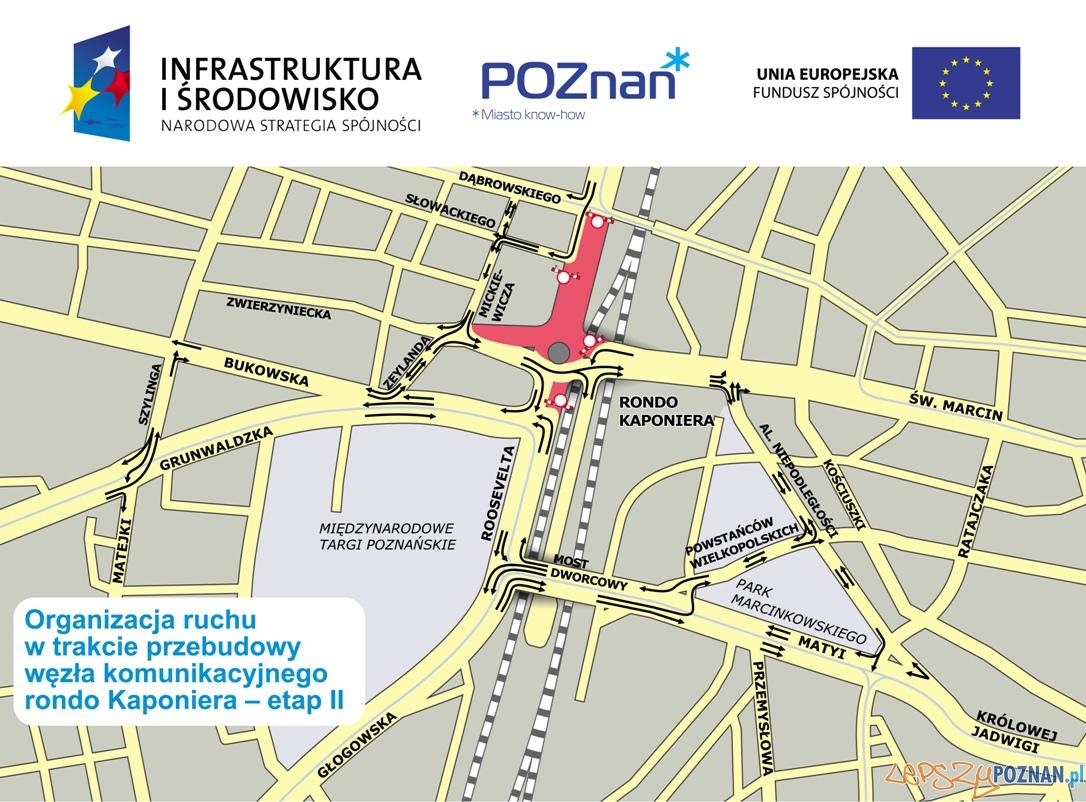 Zmiana ruchu pojazdów podcza II fazy remontu Kaponiery  Foto: ZDM