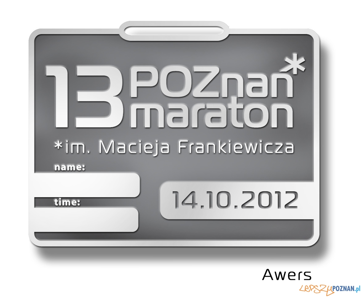 Medal 13 Poznań Maraton - Awers  Foto: POSIR