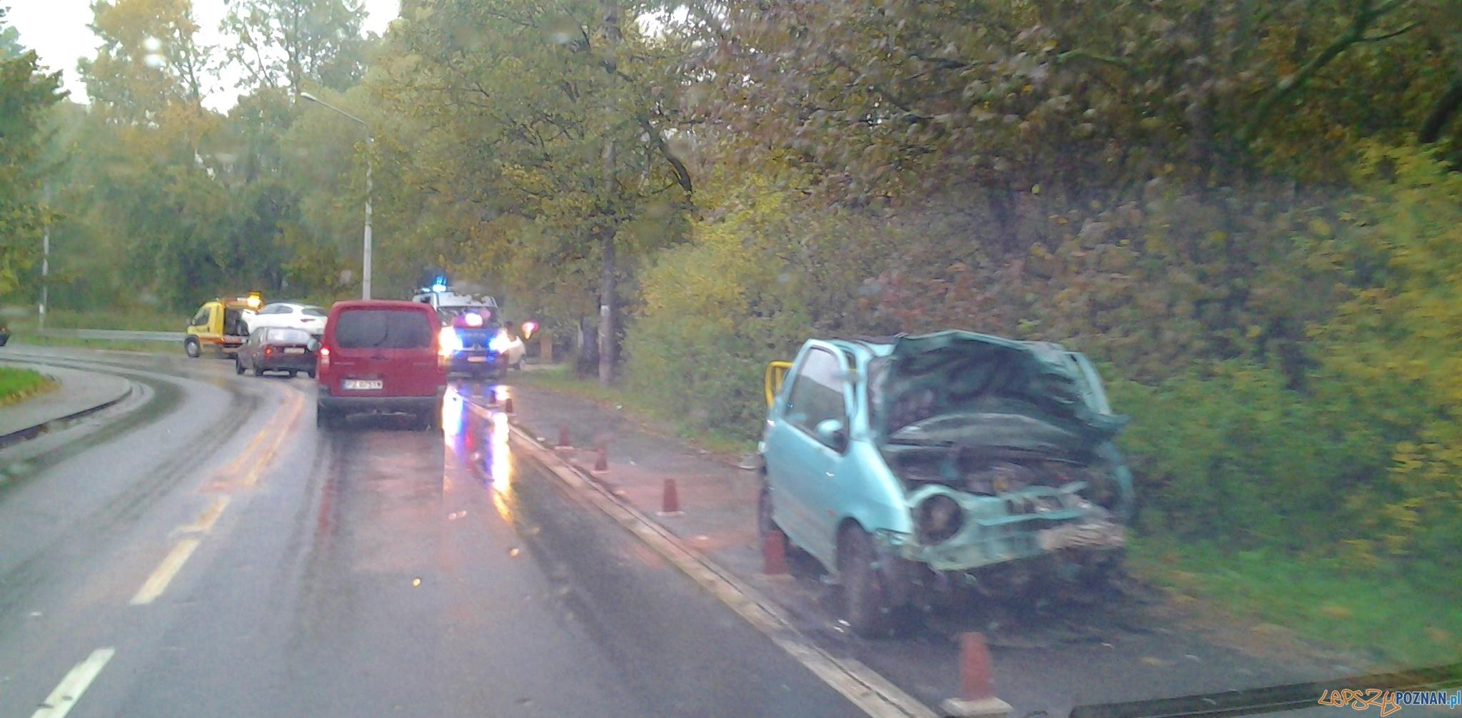 Wypadek na Browarnej   Foto: Antoninek