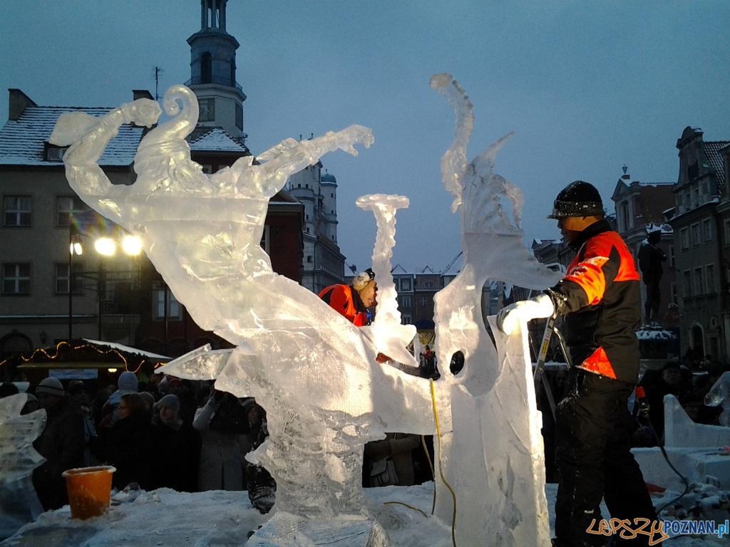 VII Międzynarodowy Festiwal Rzeźby Lodowej - 2 dzień  Foto: lepszyPOZNAN.pl / tab
