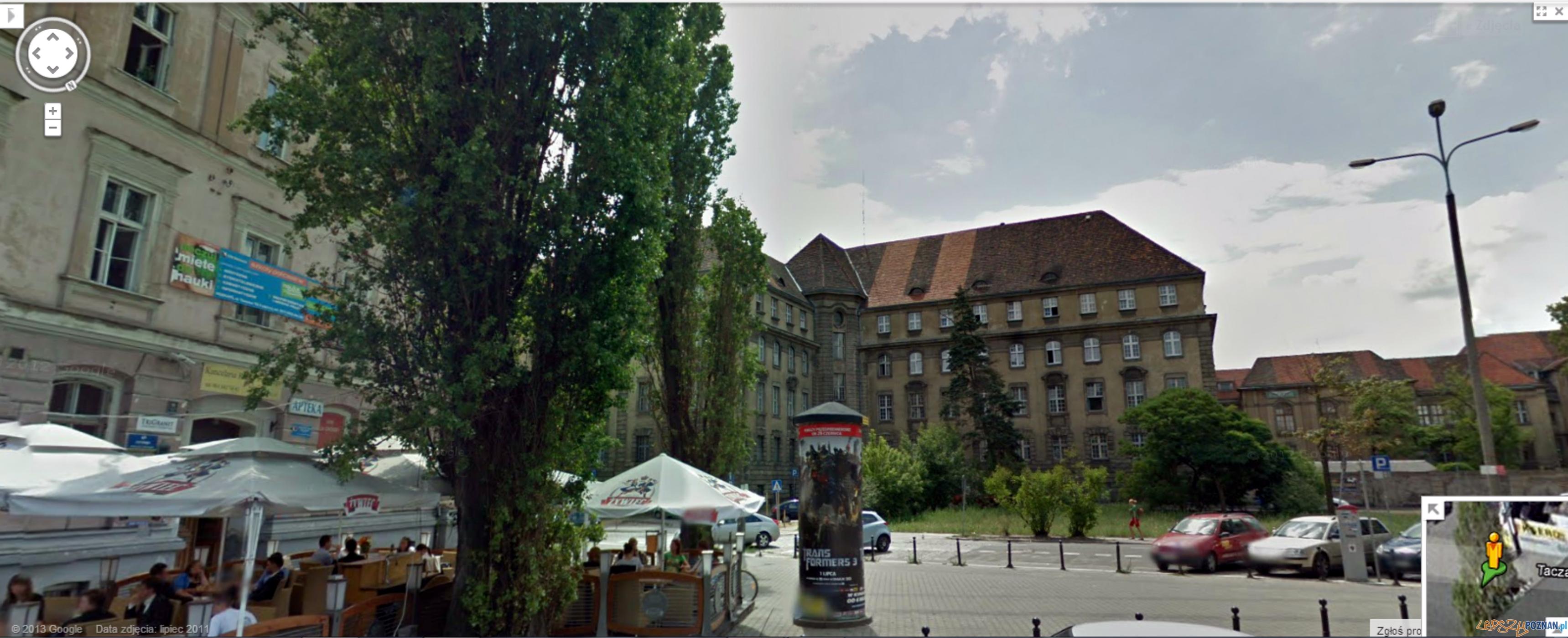 To zdjęcie wykonanen przez Google - jeszcze z drzewami  Foto: Google