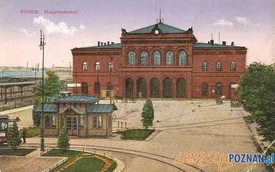 Dworzec Główny w Poznaniu ok. 1924 roku Foto: Dworzec Główny w Poznaniu ok. 1924 roku