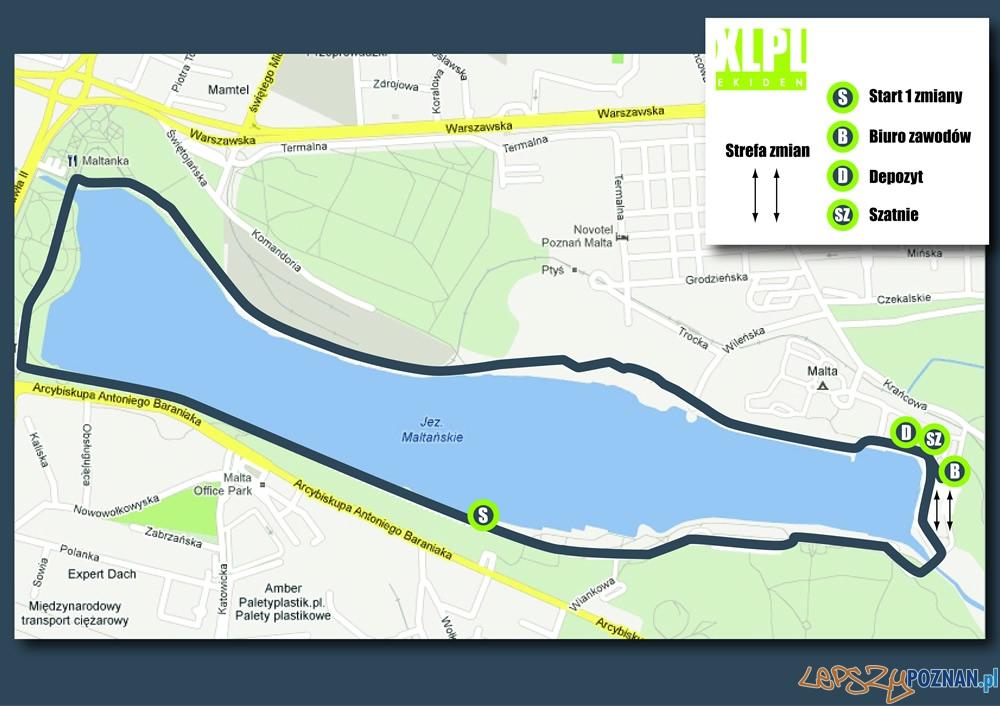 Trasa XLPL ekiden sztafety maratońskiej  Foto: