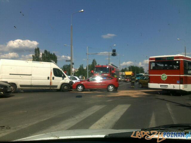 Wypadek Piątkowska, a Szydłowska  Foto: news@lepszypoznan.pl / Ewelina