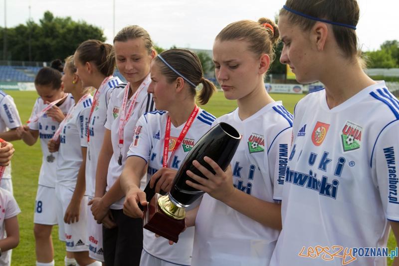 Zdobywca II miejsca w Pucharze Polski w piłce nożnej kobiet w sezonie 2012/2013 - Unia Racibórz  Foto: lepszyPOZNAN.pl / Piotr Rychter