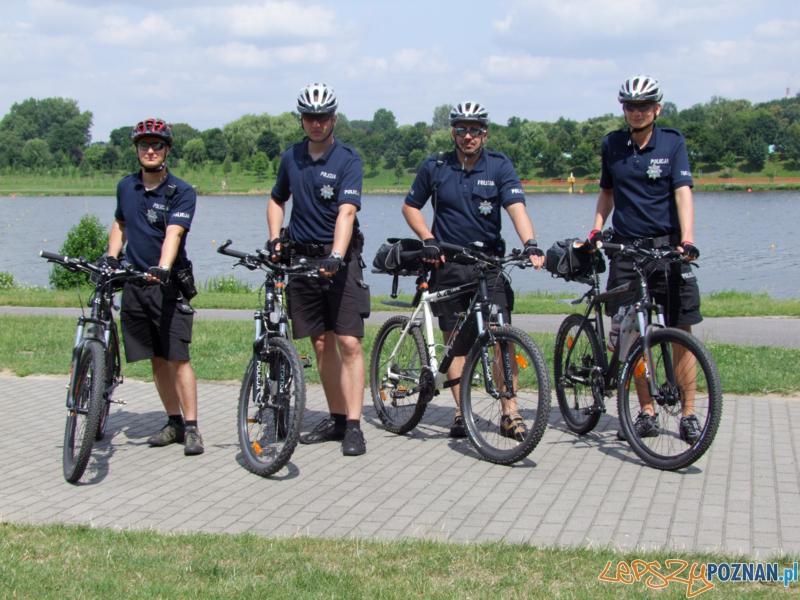 Policjanci na rowerach (2) Foto: Policja w Poznaniu