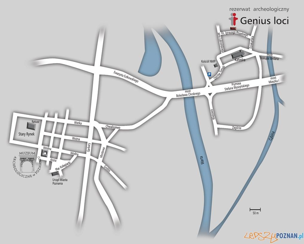 Mapa - Muzeum Archeologoczne - Genius Loci  Foto: materiały prasowe