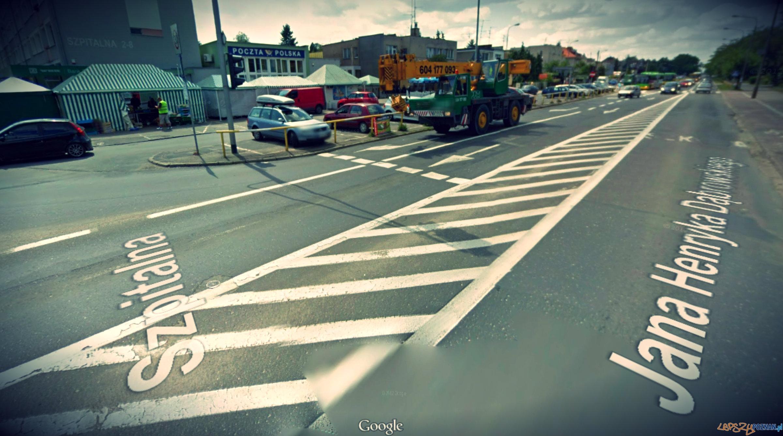 ul. Dąbrowskiego przed remontem  Foto: Google street