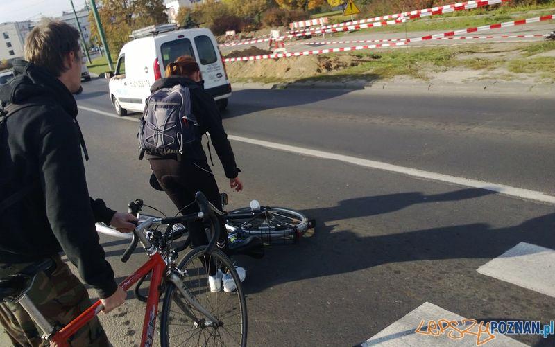 Potrącenie na Moście Chrobrego  Foto: TD