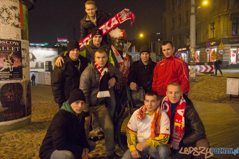 Przed meczem towarzyskim Polska - Irlandia, Poznań pryz Starzm Marzchu - 19.11.2013 r.  Foto: lepszyPOZNAN.pl/  Piotr Rychter