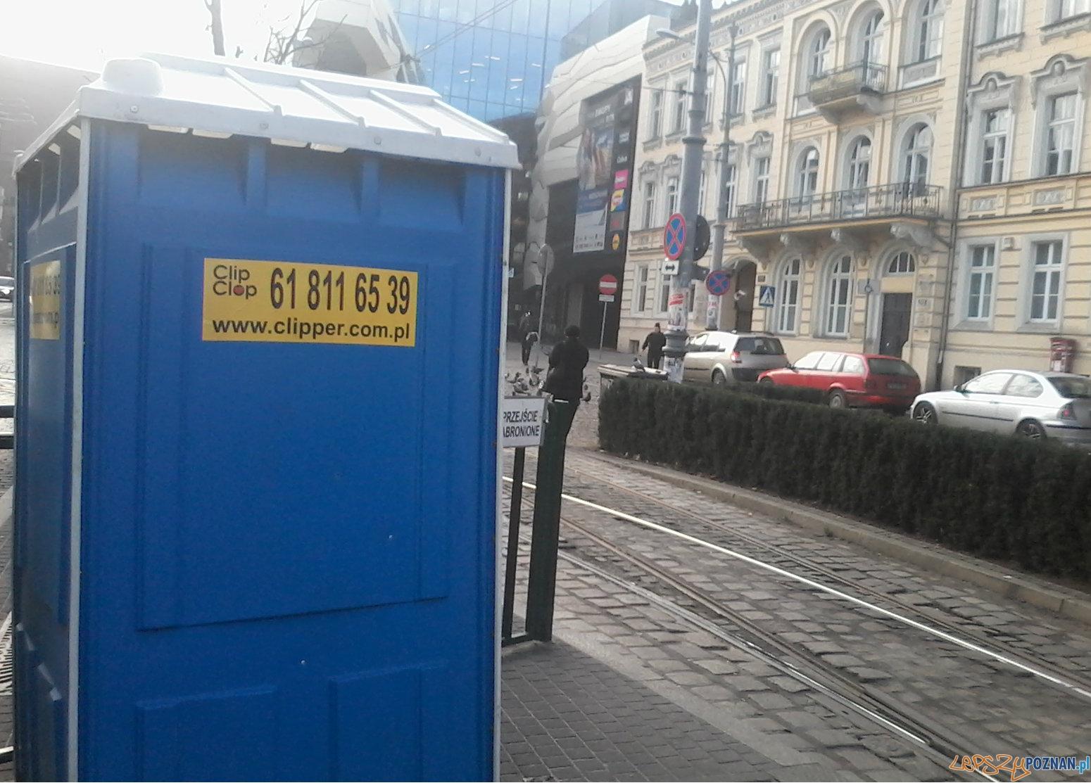 Toaleta przenośna na Marcinkowskiego.  Foto: Paweł Sztando