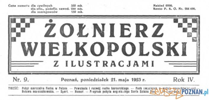 Żołnierz Wielkopolski 21.05.1923 winieta  Foto: Wielkopolska Biblioteka Cyfrowa