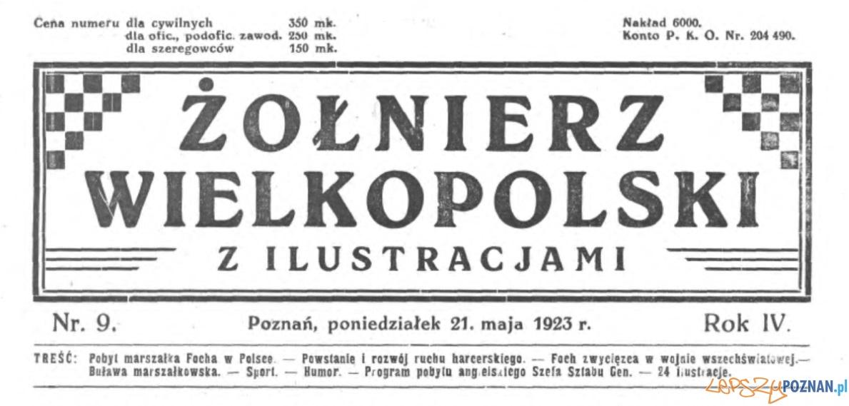 Żołnierz Wielkopolski 21.05.1923 winieta
