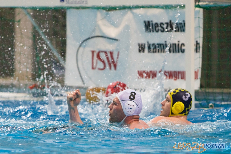 DSW Waterpolo Poznań - ŁSTW Uniwersytet Łódzki (Paweł Wielgórski, Jakub Bednarek)  Foto: lepszyPOZNAN.pl / Piotr Rychter