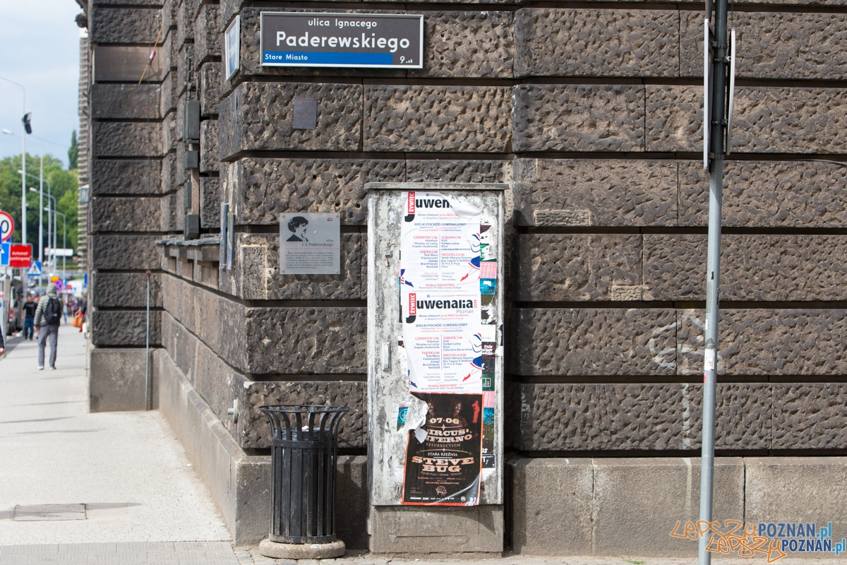 Paderewskiego z  plakatami Juwenaliów  Foto: lepszyPOZNAN.pl / Piotr Rychter