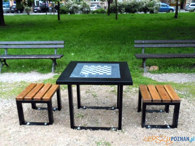 Zagraj w szachy pod chmurką na Łazarzu  Foto: lazarz.pl / Janusz Ludwiczak