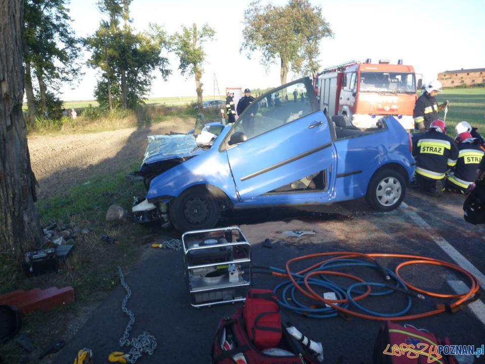 Wypadek w Uchorowie  Foto: PSP JRG 8