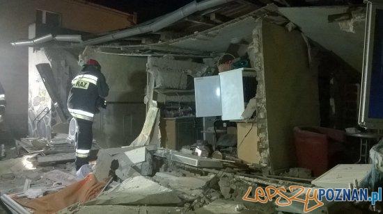 Eksplozja na ul. Ślężańskiej  Foto: PSP Poznań / kpt. Jarosław Kuczkowski
