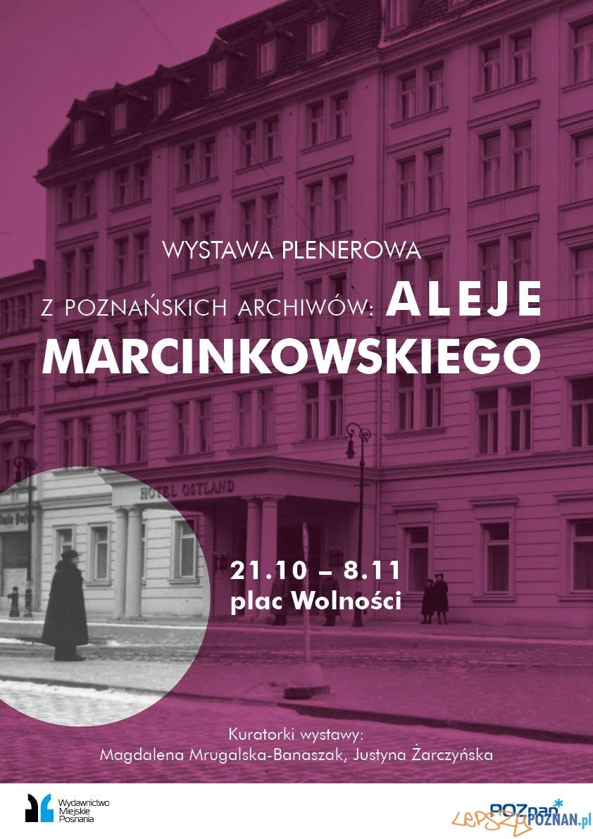 Plakat Al. Marcinkowskiego  Foto: