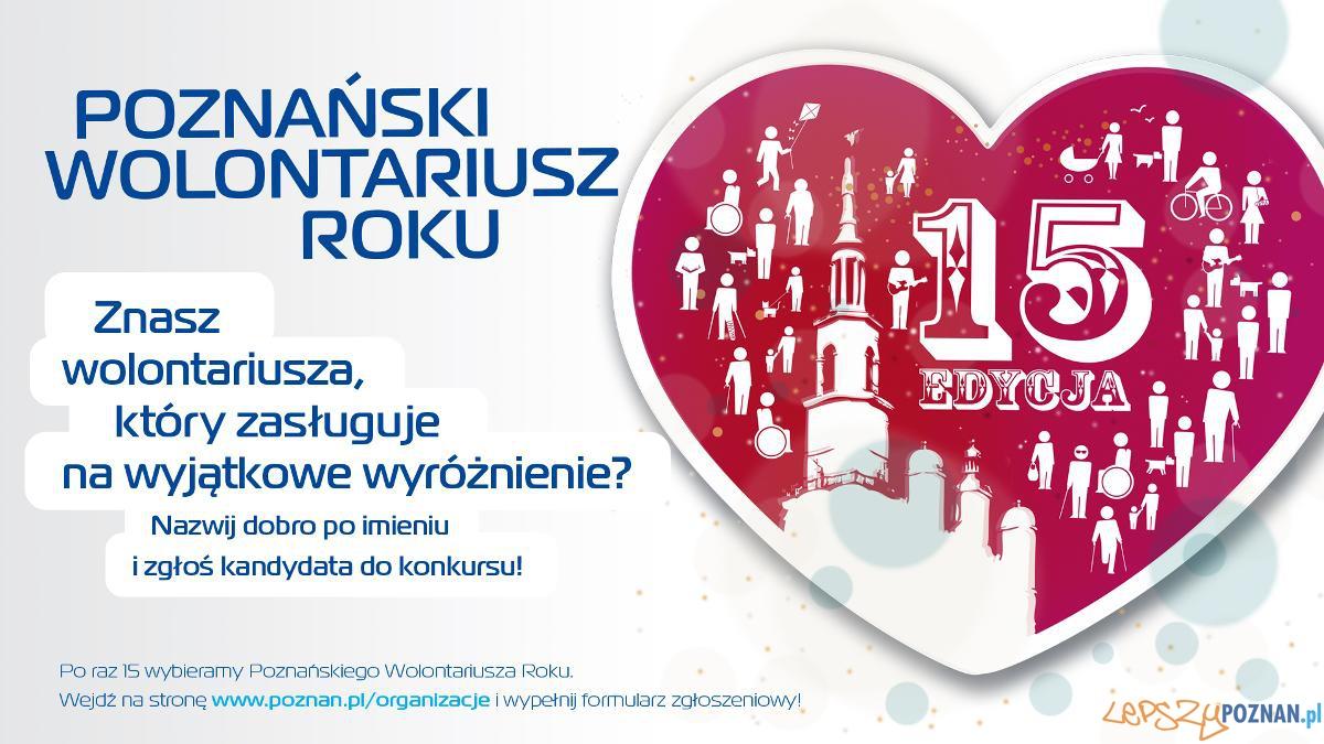 Poznański Wolontarusz Roku 2014 (plakat)  Foto: mat. pras.