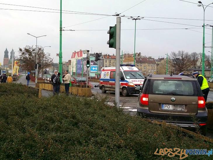 Wypadek na Śródce  Foto: lepszyPOZNAN.pl / tab