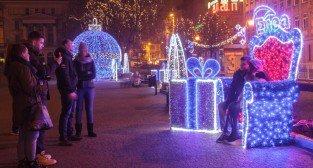 Świąteczna iluminacja Enei na Placu Wolności - Poznań 06.11.2014 r.  Foto: LepszyPOZNAN.pl / Paweł Rychter