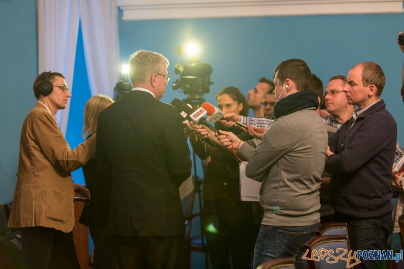 Konferencja z Prezydentem Miasta Poznania Jackiem Jaśkowiakiem  Foto: lepszyPOZNAN.pl / Piotr Rychter
