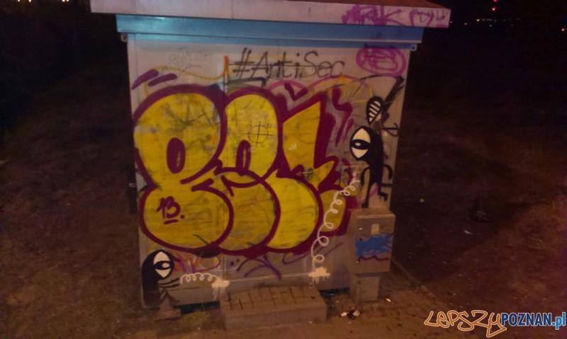 Nielegalne graffiti  Foto: Komenda Miejska Policji