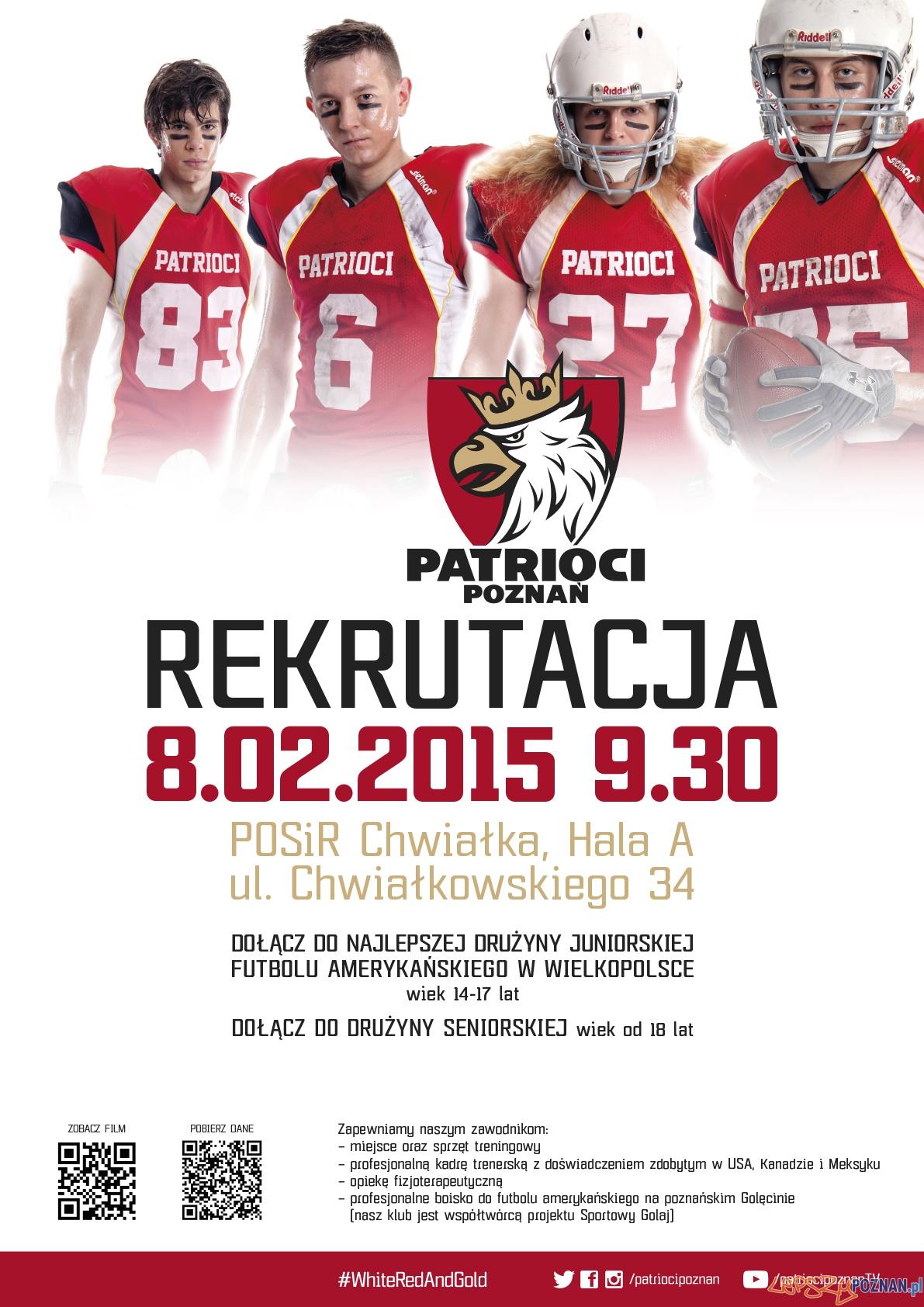 Patrioci - plakat rekrutacyjny  Foto: mat. pras.
